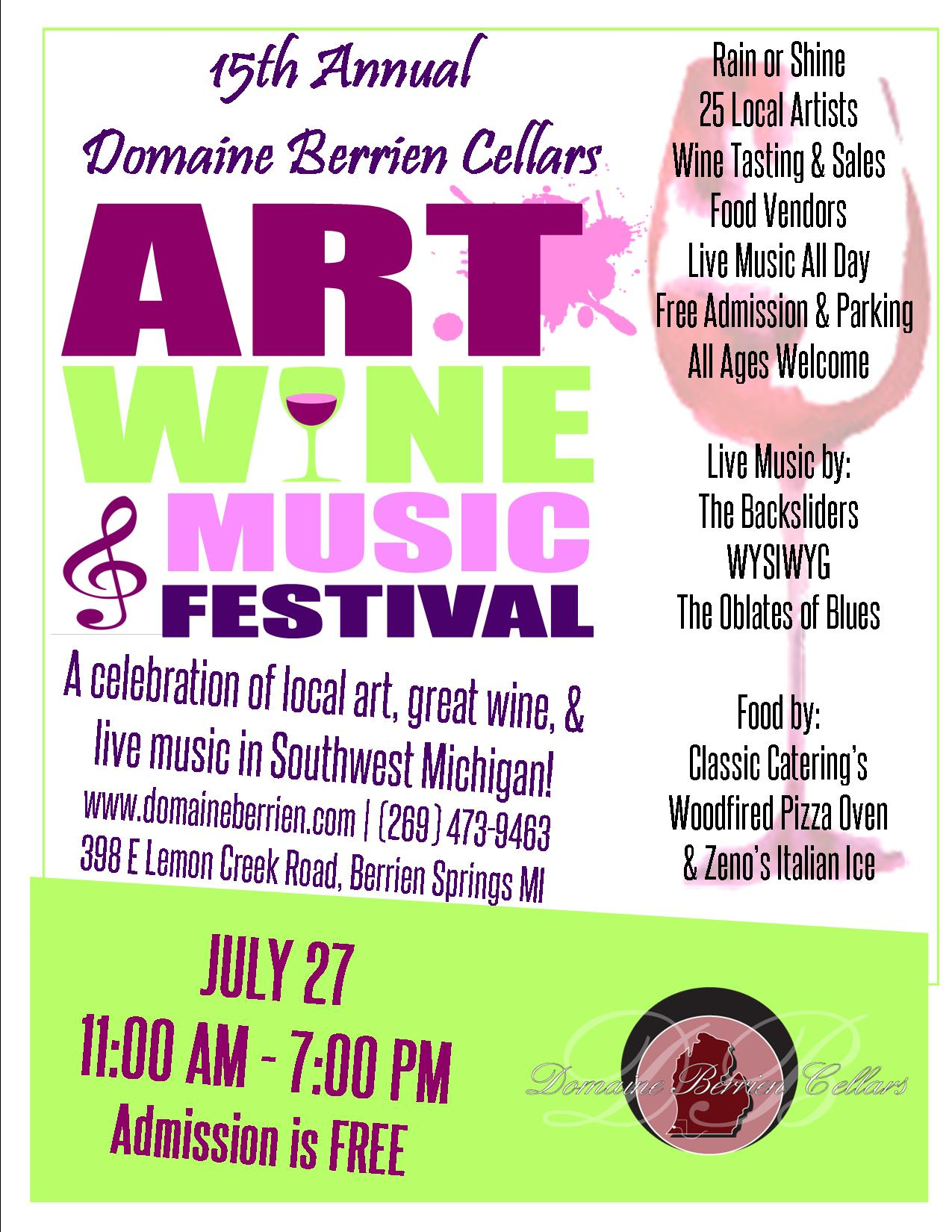 2019 art wine and music large ad with address KM revised